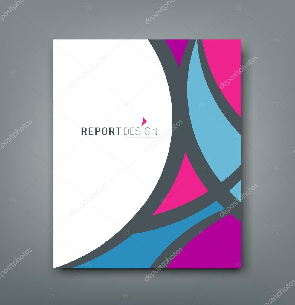 Cover Report abstract colorful fabric design
