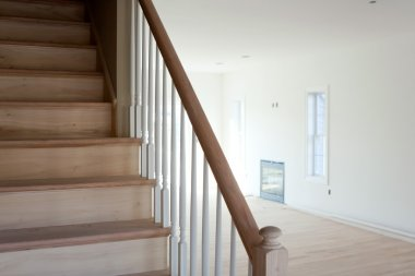 Unfinished Stairs Home Interior