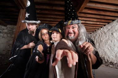 Mythical Family of Wizards