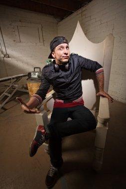 Skeptical Rapper on Throne