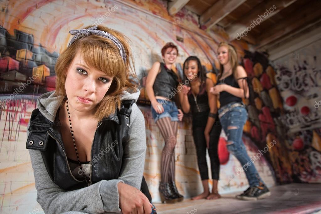 Bashful Girl Being Bullied