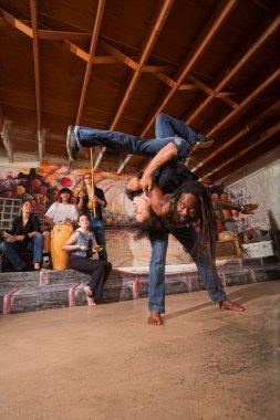 Capoeira Artists Flipping