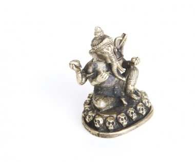 Ganesh on a White Background