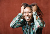 Fotografie Laughing African-American Woman