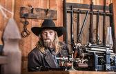 Fényképek portréja egy cowboy