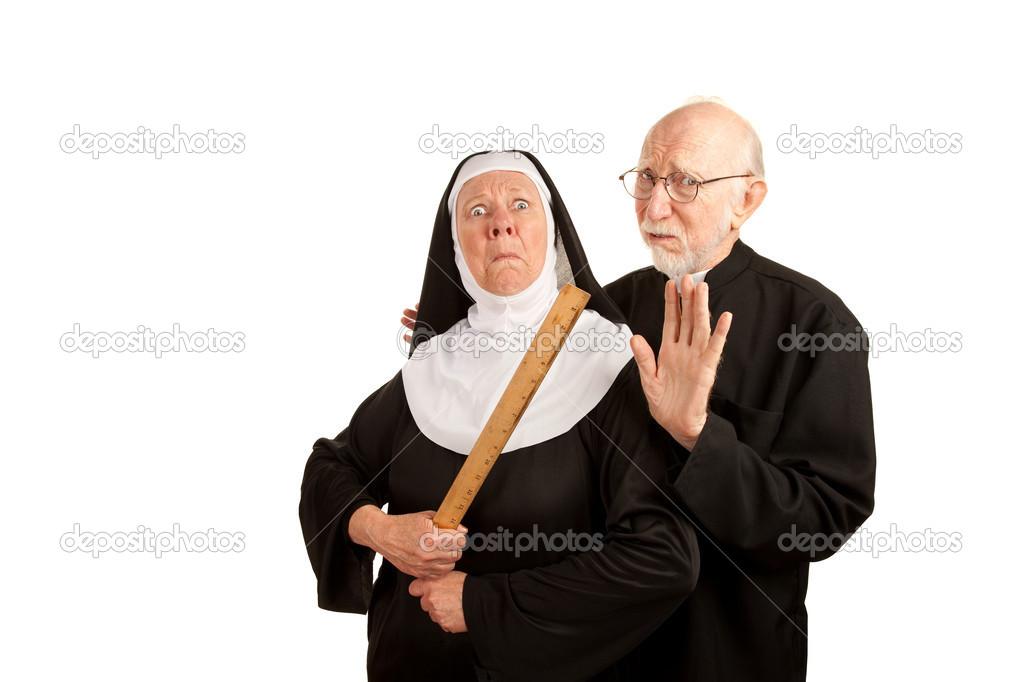 Lustige priester und nonne stockfoto creatista 40082117 - Stock cuisine saint priest ...