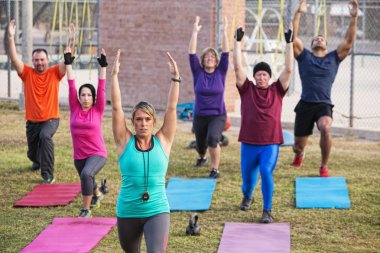 Adult Boot Camp Exercise Class