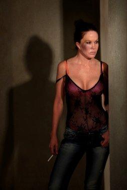 Prostitute in hallway