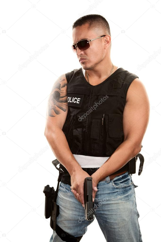 Cop Stock Quote | Tough Cop Stock Photo C Creatista 40101721