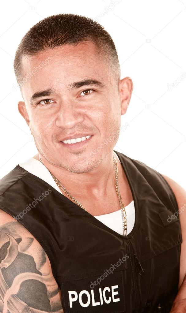 Cop Stock Quote | Handsome Hispanic Cop Stock Photo C Creatista 40101771