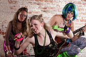Fotografie Weibliche Punkrockband