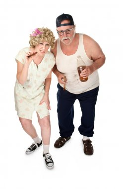 Curious older couple