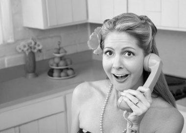 Surprised Woman On Phone