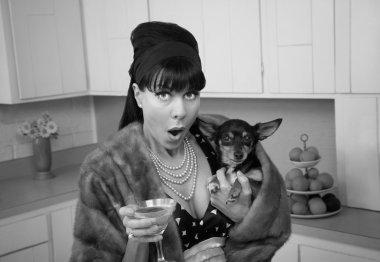 Woman Holding Chihuahua Dog
