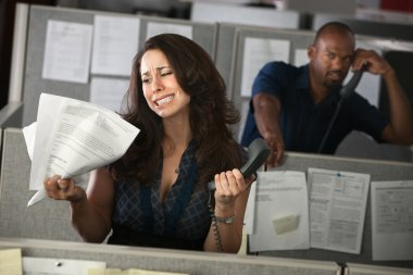 Unhappy Woman Office Worker