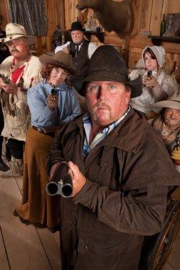 Cowboy Points Double Barrel Shotgun
