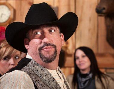 Handsome Cowboy Looks Back
