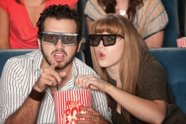 Couple Captivated by 3D Movie
