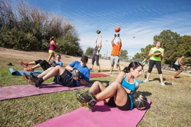 Outdoor Bootcamp Fitness Class