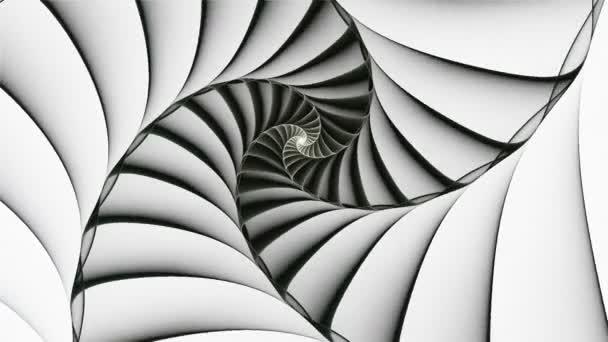 Black spiral rotating