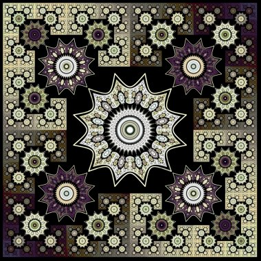 Abstract flower fractal Geometry Art Background Pattern