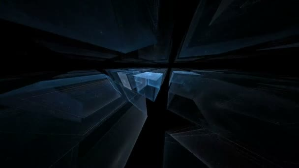 Fraktál kék kocka forgatás átlós 360 fullhd-ben