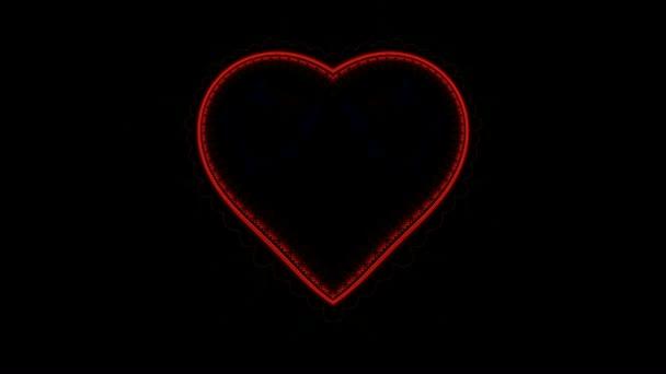 fraktální červená srdeční frekvence