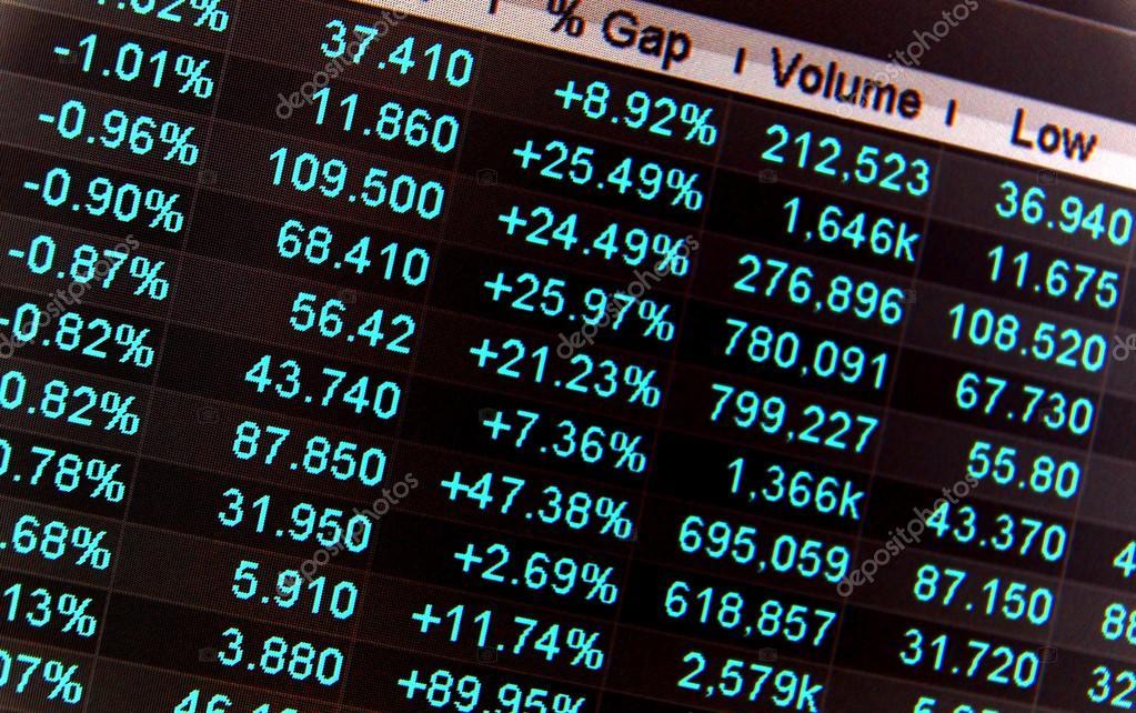 f9a30d0898 Quotazioni di borsa, senza virgolette tempo reale al mercato azionario–  immagine stock