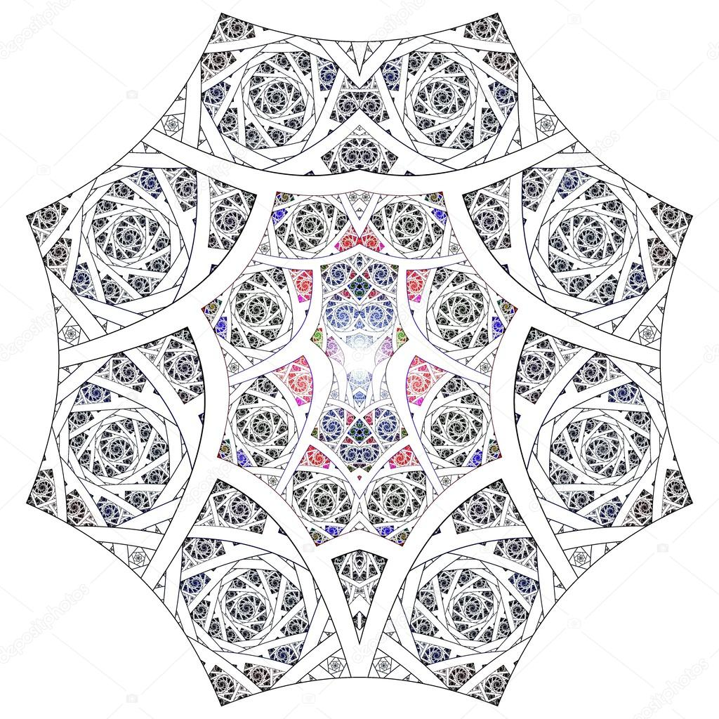 Fractal Black Flower Free Stock Photo: Abstract Flower Fractal Geometry Art Background Pattern