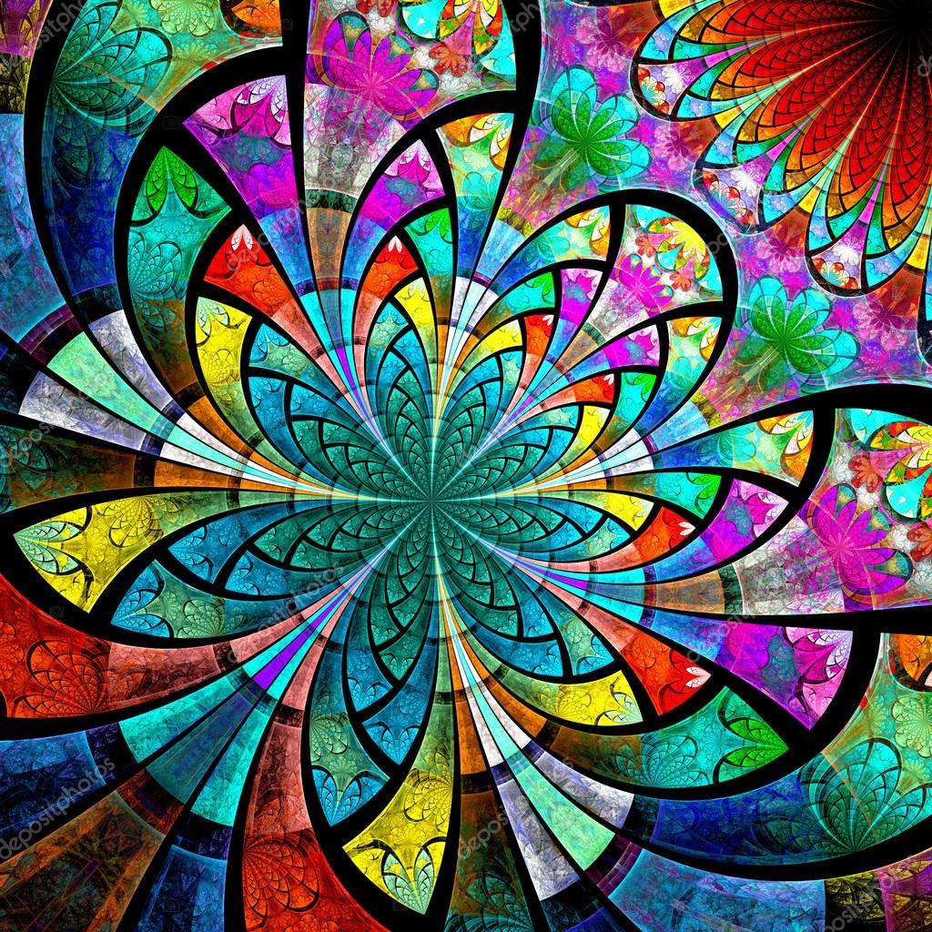 Fractal Black Flower Free Stock Photo: Flor Colorida Fractal, Obras De Arte Digital