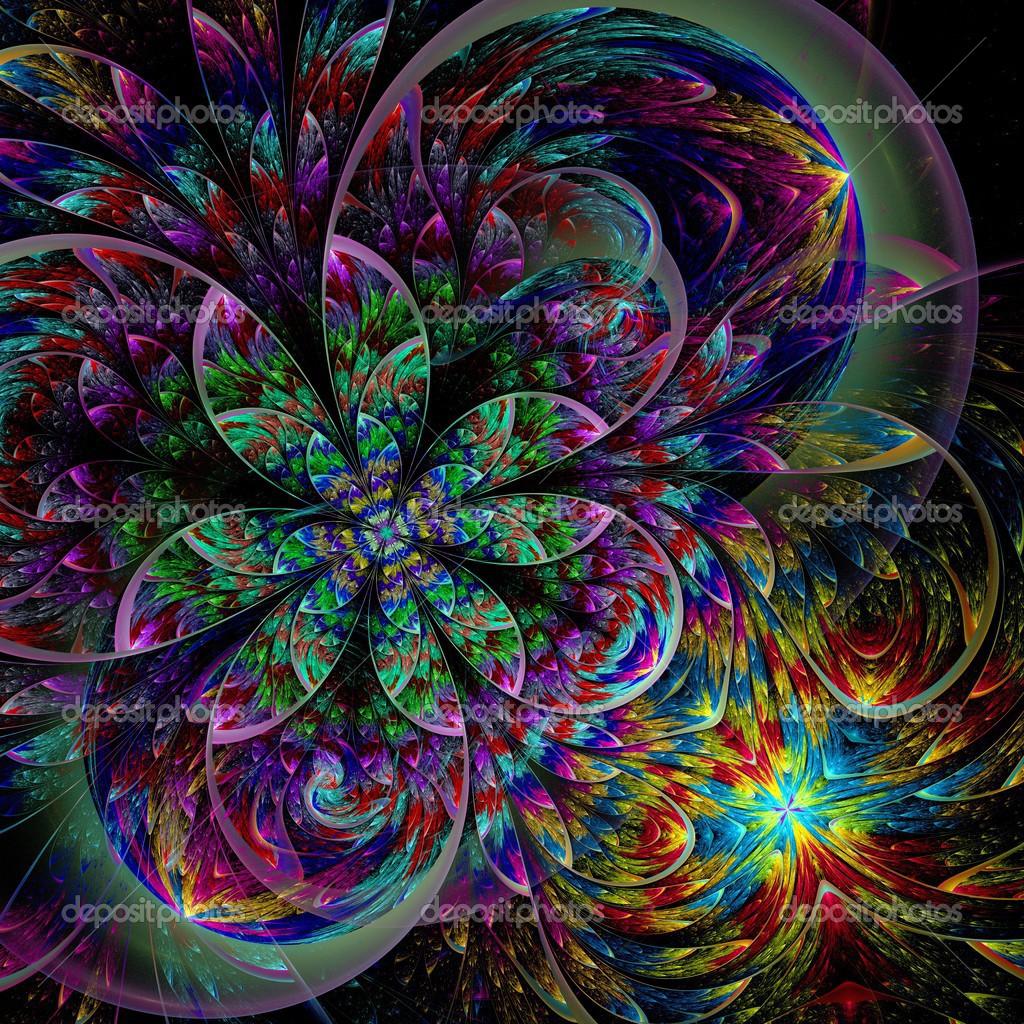 Fleur De Deux Fractales Colorees Photographie Fbatista72 C 42480011