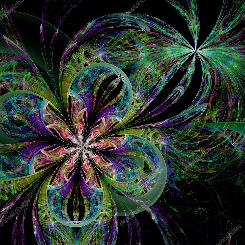 Fleur De Deux Fractales Colorees Photographie Fbatista72 C 42480065
