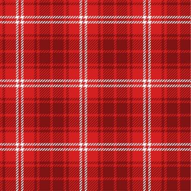 Seamless red tartan