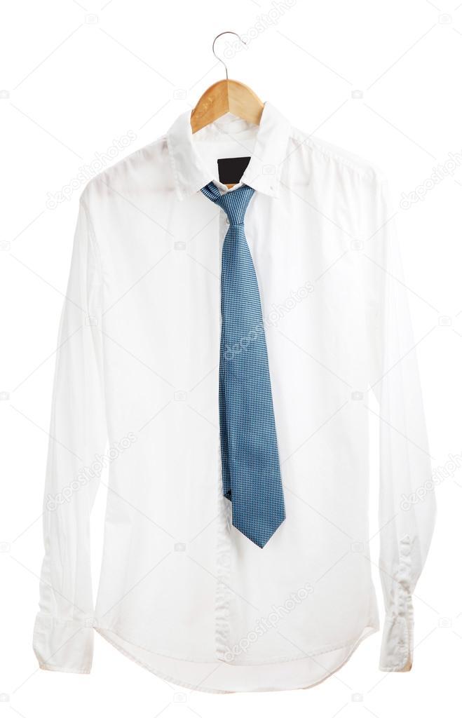 Sulla Cravatta Foto In Legno Isolato Con Bianco — Su Camicia Gruccia kZTulwPOXi