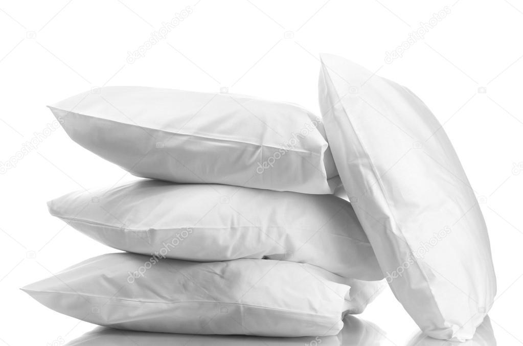 Kussen Wit 12 : Kussens geïsoleerd op wit u2014 stockfoto © belchonock #12765685