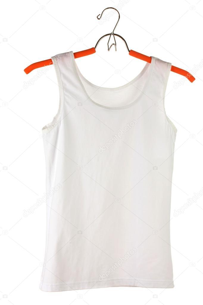 Camiseta La Mujer Aislada Blanco Blanca Una Foto Percha De — En 4LS5R3qAjc