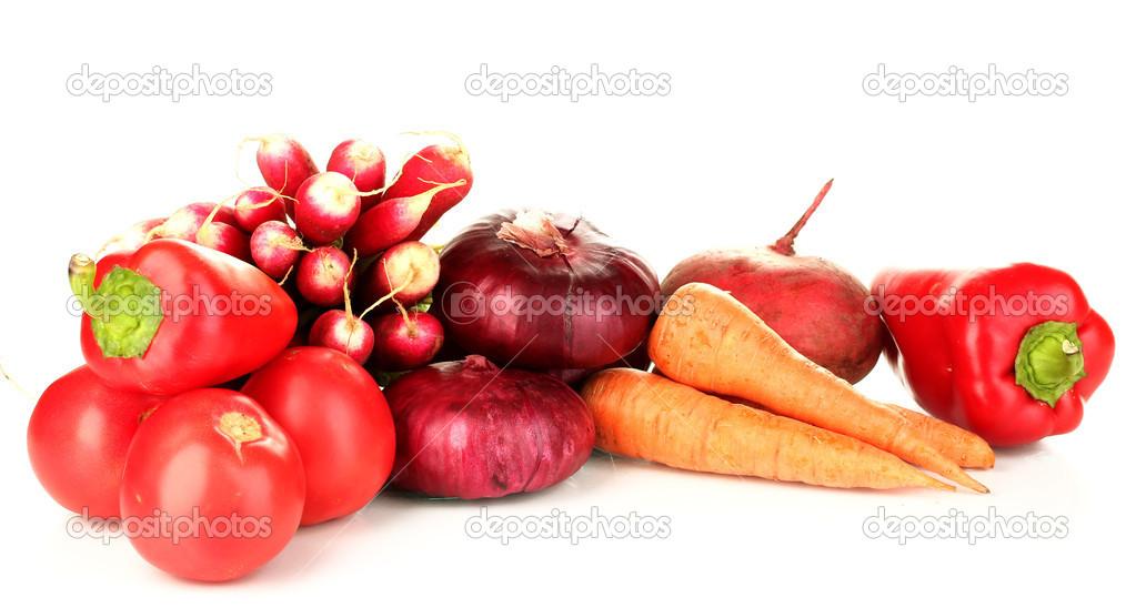röd vit grönsak