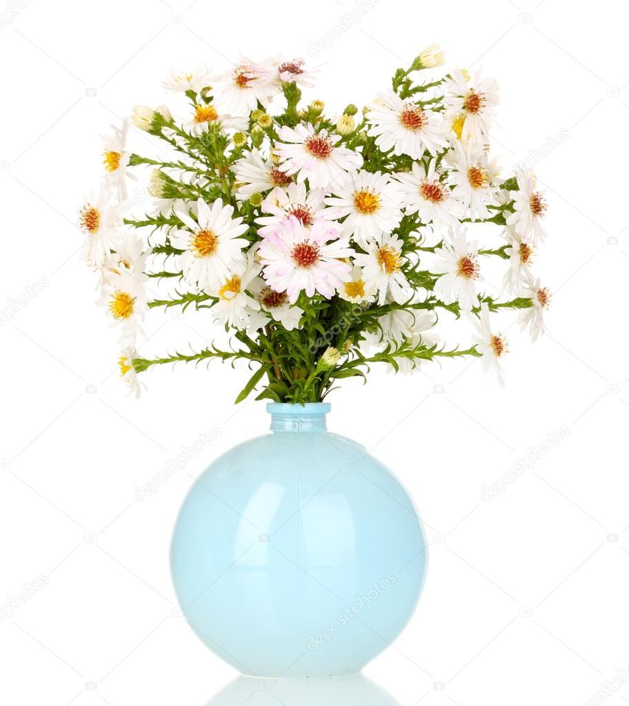 Фото цветы в вазе на белом фоне