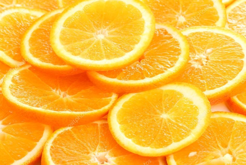Oranges close up