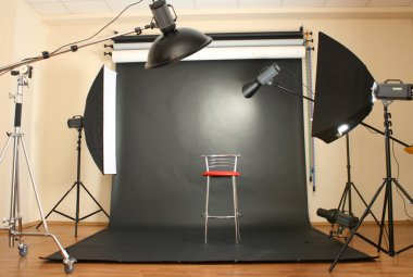 interior of professional photo studio
