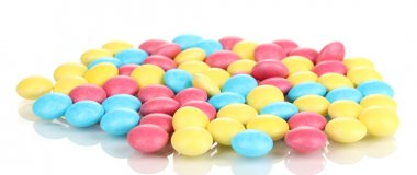 Color candies isolated on white