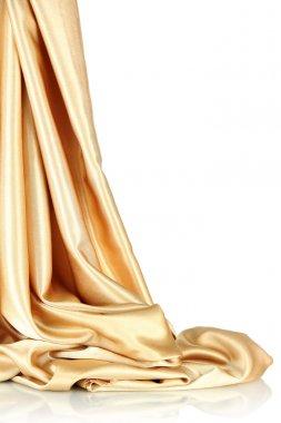 beautiful silk drape, isolated on white