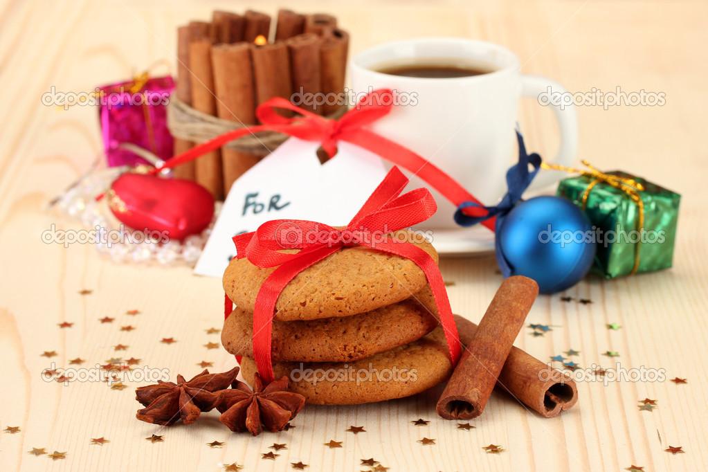Biscuits Pour Le Pere Noel Image Conceptuelle De Biscuits Au