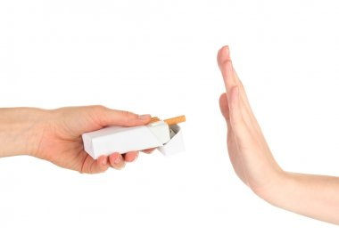 Concept: stop smoking, isolated on white