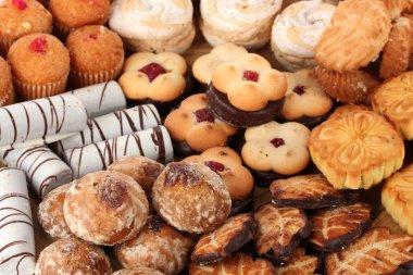Mix of sweet cookies close-u