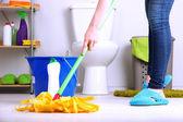 Helyiség-Közelkép padló tisztítás