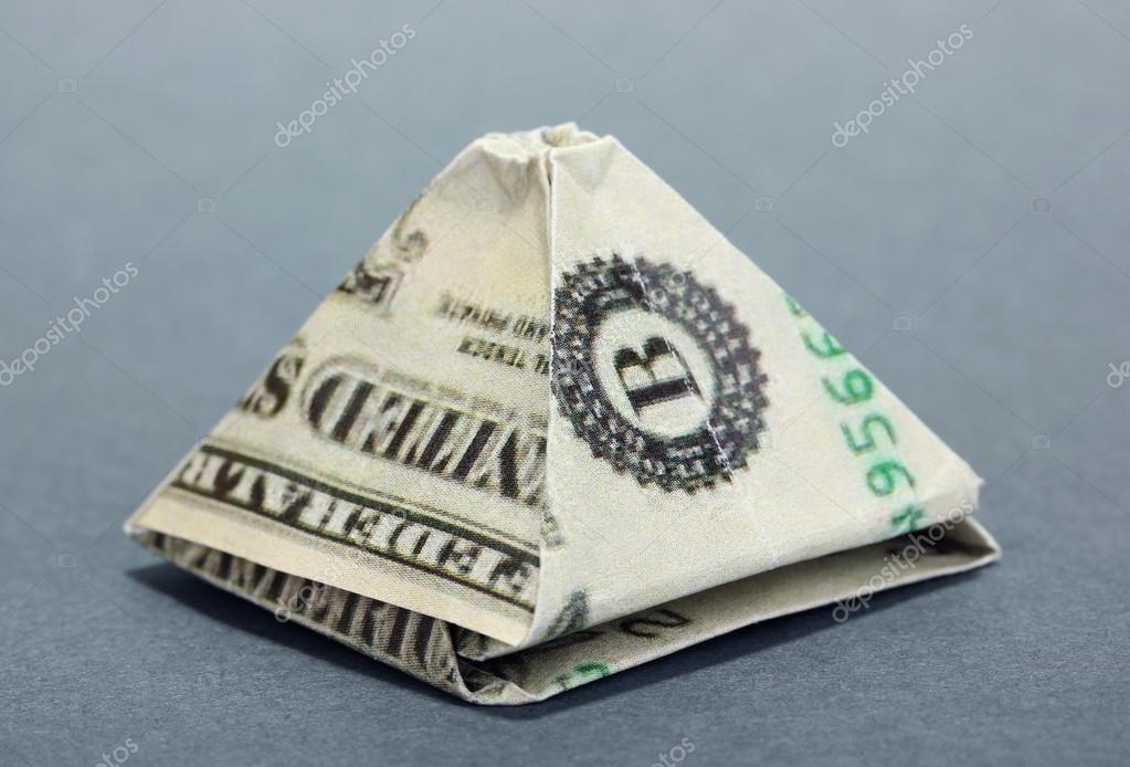 сложенный доллар треугольником фото тебе фото