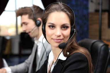 Call center operators at wor