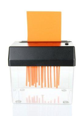 Paper shredder machine, isolated on white
