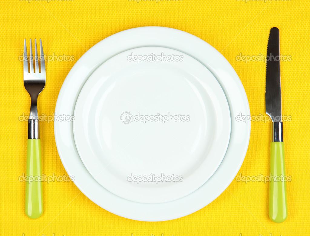 Kleurplaat Mes En Vork Op Een Achtergrond Met Kleur Stockfoto